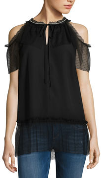 Libby Edelman Cold Shoulder Top