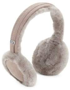 UGG Leather-Trimmed Shearling Built-In Speaker Earmuffs