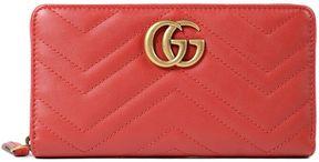 Gucci Marmont Zip Around Wallet - RED - STYLE