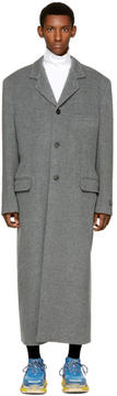 Balenciaga Grey Wool Long Coat
