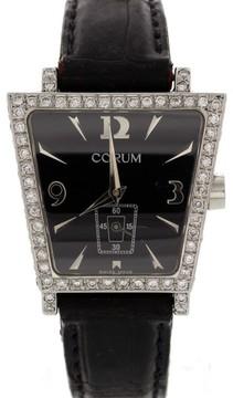 Corum Trapeze 105.404.20 Stainless Steel & Leather w/Diamonds Quartz 29mm Womens Watch