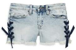 Blank NYC Girl's Lace-Up Denim Shorts