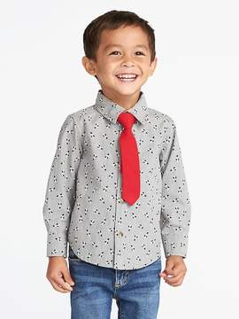Old Navy Penguin-Print Shirt & Tie Set for Toddler Boys
