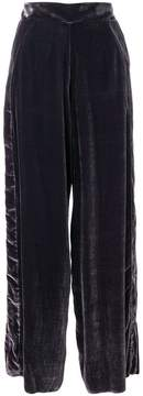 Aviu velvet wide-leg trousers