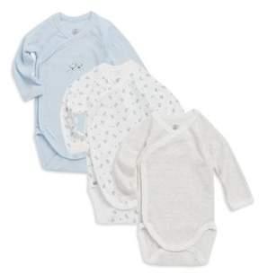 Petit Bateau Baby's Lagoon Three-Piece Jersey Knit Bodysuit Set