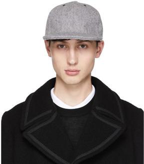 Paul Smith Grey Wool Baseball Cap