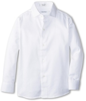 Calvin Klein Kids - Sateen Shirt Boy's Long Sleeve Button Up