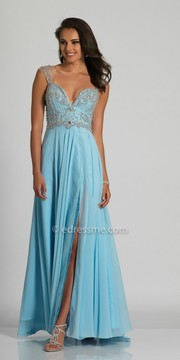 Dave and Johnny Cap Sleeve Beaded Sweetheart Prom Dress