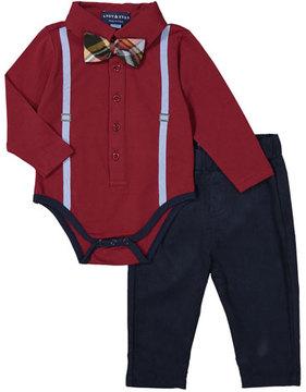 Andy & Evan Galaxy Polo ShirtzieTM w/ Pants, Size 3-24 Months