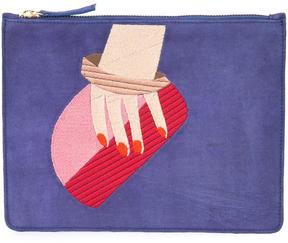 Lizzie Fortunato Jewels zip fastening clutch