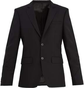Givenchy Single-breasted star-appliqué wool-blend blazer