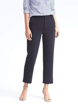 Banana Republic Avery Ankle-Fit Scallop-Hem Pant