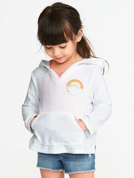 Old Navy Graphic Loop-Terry Cali Fleece Hoodie for Toddler Girls