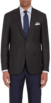 Canali Men's Capri Checked Wool Two-Button Sportcoat