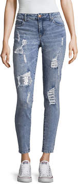 Almost Famous Skinny Fit Destructed Bling Jean-Juniors
