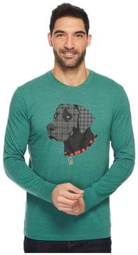 Life is Good Black Lab Patchwork Long Sleeve Crusher Tee Men's Long Sleeve Pullover