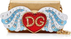 Dolce & Gabbana Angel Embellished Leather Wallet Bag