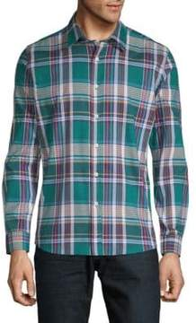 Hyden Yoo Tartan Cotton Button-Down Shirt