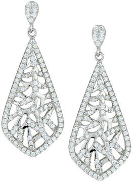 FANTASIA Woven Pave Crystal Drop Earrings