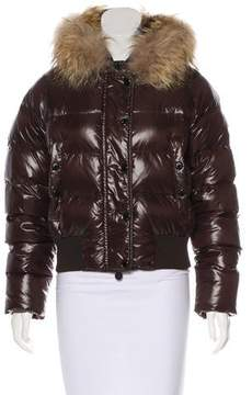 Moncler Alpin Fur-Accented Jacket