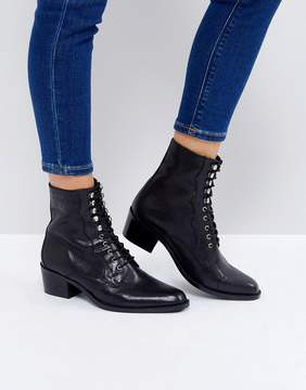 Asos AILEEN Leather Lace Up Boots