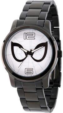 Marvel Spiderman Mens Black Strap Watch-Wma000211