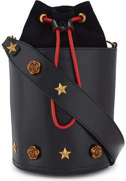 Mo&Co. Embellished leather bucket bag