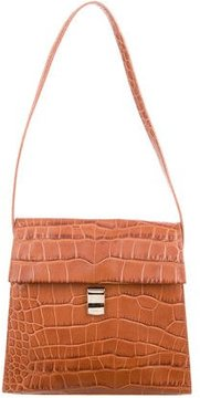 Furla Embossed Leather Shoulder Bag