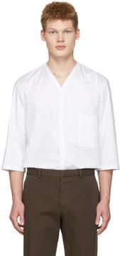 Lemaire White V-Neck Shirt