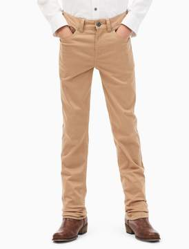 Calvin Klein boys skinny stretch sateen pants