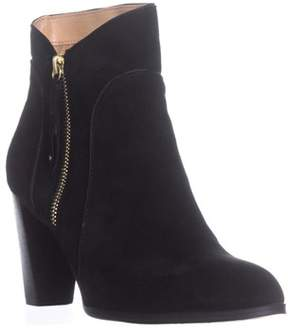 Adrienne Vittadini Taki Zip-up Booties, Black Suede.