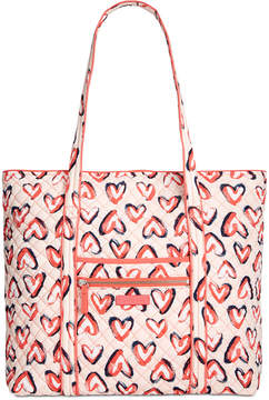 Vera Bradley Iconic Vera Large Tote - BUTTERFLY FLUTTER/SILVER - STYLE