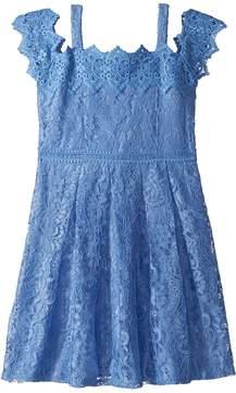 Us Angels Cold Shoulder Lace Dress Girl's Dress