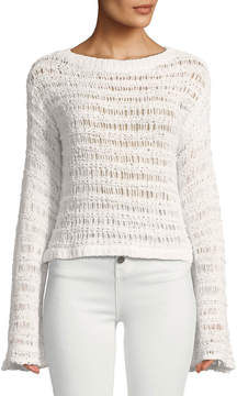 Band of Gypsies Ladder-Stitch Pullover Sweater