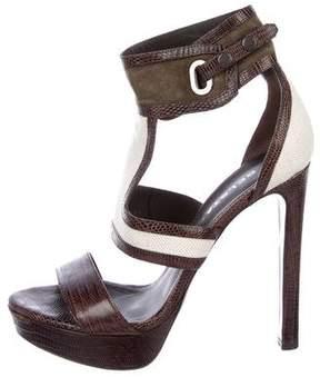 Belstaff Lizard Platform Sandals