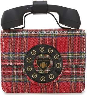 Betsey Johnson Answer Me Plaid Phone Cross-Body Bag
