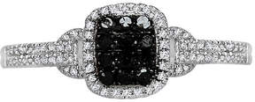 Black Diamond FINE JEWELRY LIMITED QUANTITIES 1/4 CT. T.W. White and Color-Enhanced Square Ring