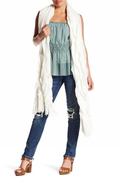 Collection XIIX Ruffle Knit Fringe Wrap Scarf