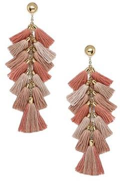 Ettika Women's Multi Tassel Statement Earrings