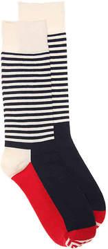 Happy Socks Men's Half Stripe Dress Socks