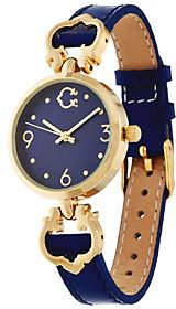 C. Wonder Round Dial Status Signature C Leather Watch