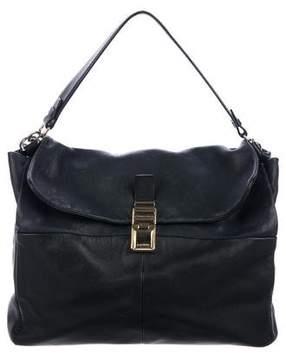Lanvin Colorblock Flap Leather Satchel