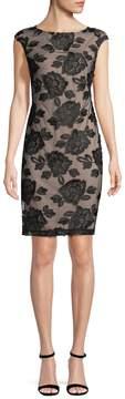 Donna Ricco Women's Lace Crewneck Dress