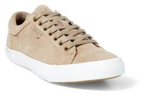 Ralph Lauren Geffrey Suede Low-Top Sneaker Tan 14