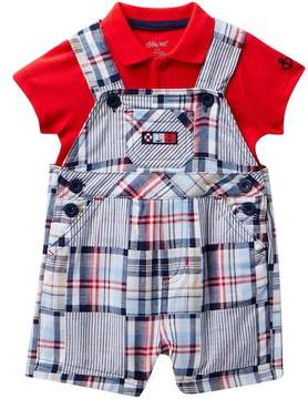 Little Me Patchwork Shortall Set (Baby Boys 3-9M)