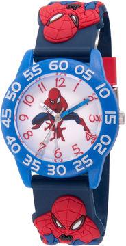 Marvel Spiderman Boys Blue Strap Watch-Wma000168