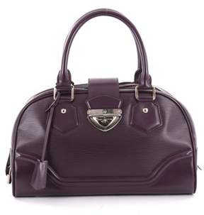 Louis Vuitton Pre-owned: Montaigne Bowling Bag Epi Leather Gm. - PURPLE - STYLE