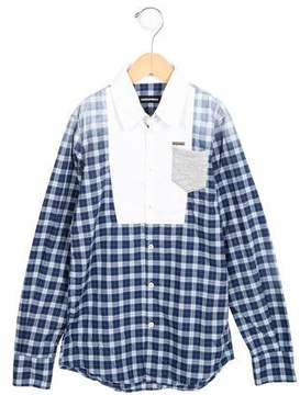 DSQUARED2 Boys' Ombré Plaid Top w/ Tags