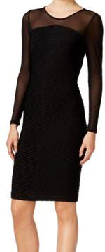Calvin Klein Womens Mesh Banded Party Dress