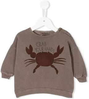 Bobo Choses Crab Your Hands sweatshirt